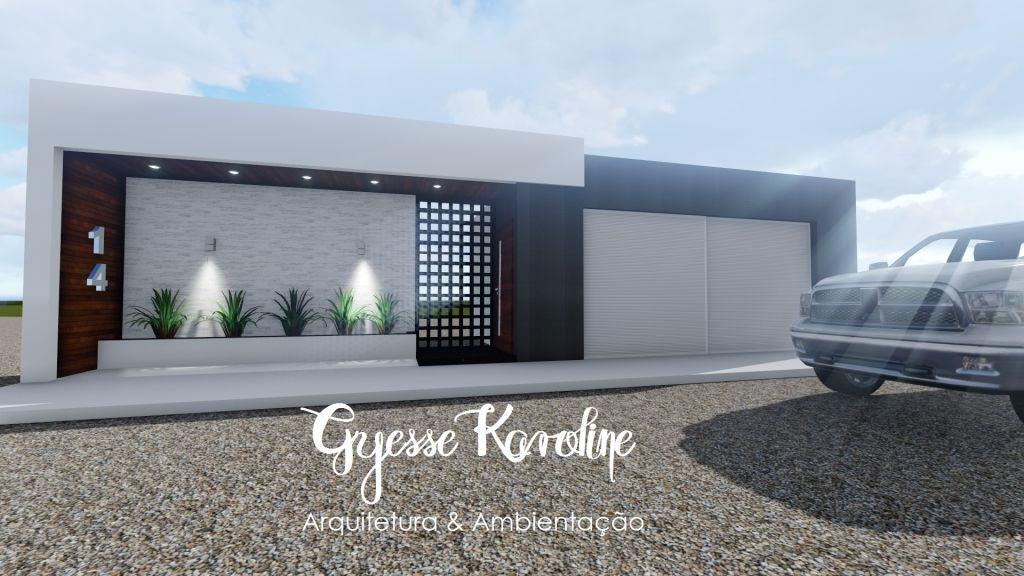 Muro fachada moderna 2017 frente casa pinterest for Casa moderna 2017