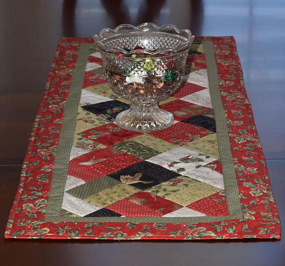 This Elegant Christmas Table Runner Is 46 Long And 18 Wide I Use Only Quilt