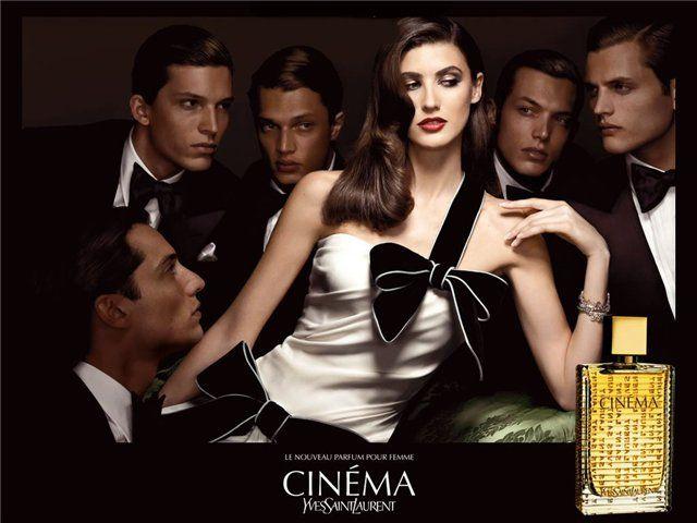 Ysl Cinema Perfume Woman And Fragrance Ysl Cinema Perfume Ad Ysl