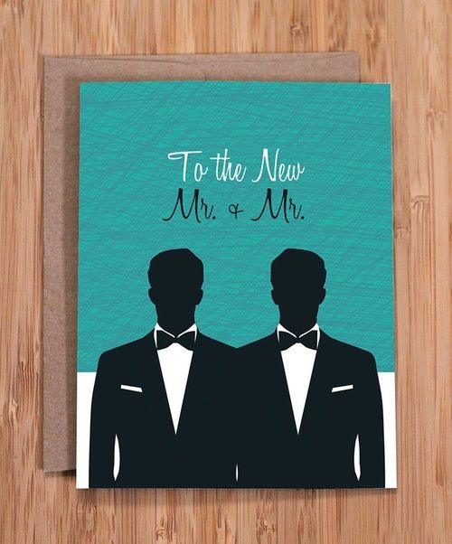 Cute Gay Wedding Card Gay Wedding Card Gay Wedding Wedding Cards