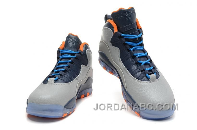 Air Jordan 10 X Retro Bobcats Wolf GreyNew SlateAtomic OrangeDark  Powder Blue Price 8400  Air Jordan Shoes New Jordans