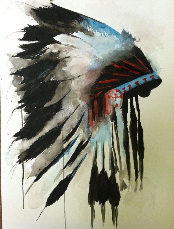 54688bc164e Watercolor Indian Headdress