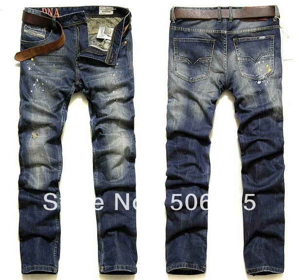Fashion Jeans Men New 2014 Fashion Famous Brand Men's Jeans Cotton Denim Pants Slim skinny straight jeans / Disel Jeans $48.77