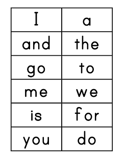 F is for First Grade: Word Wall Printable Cards