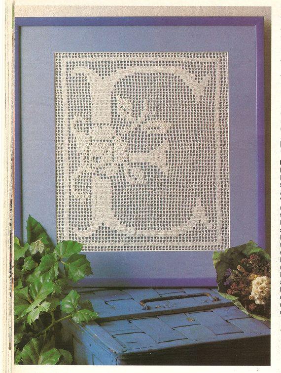 Crochet Pattern Vintage Filet Crochet Pattern Alphabet | filet ...
