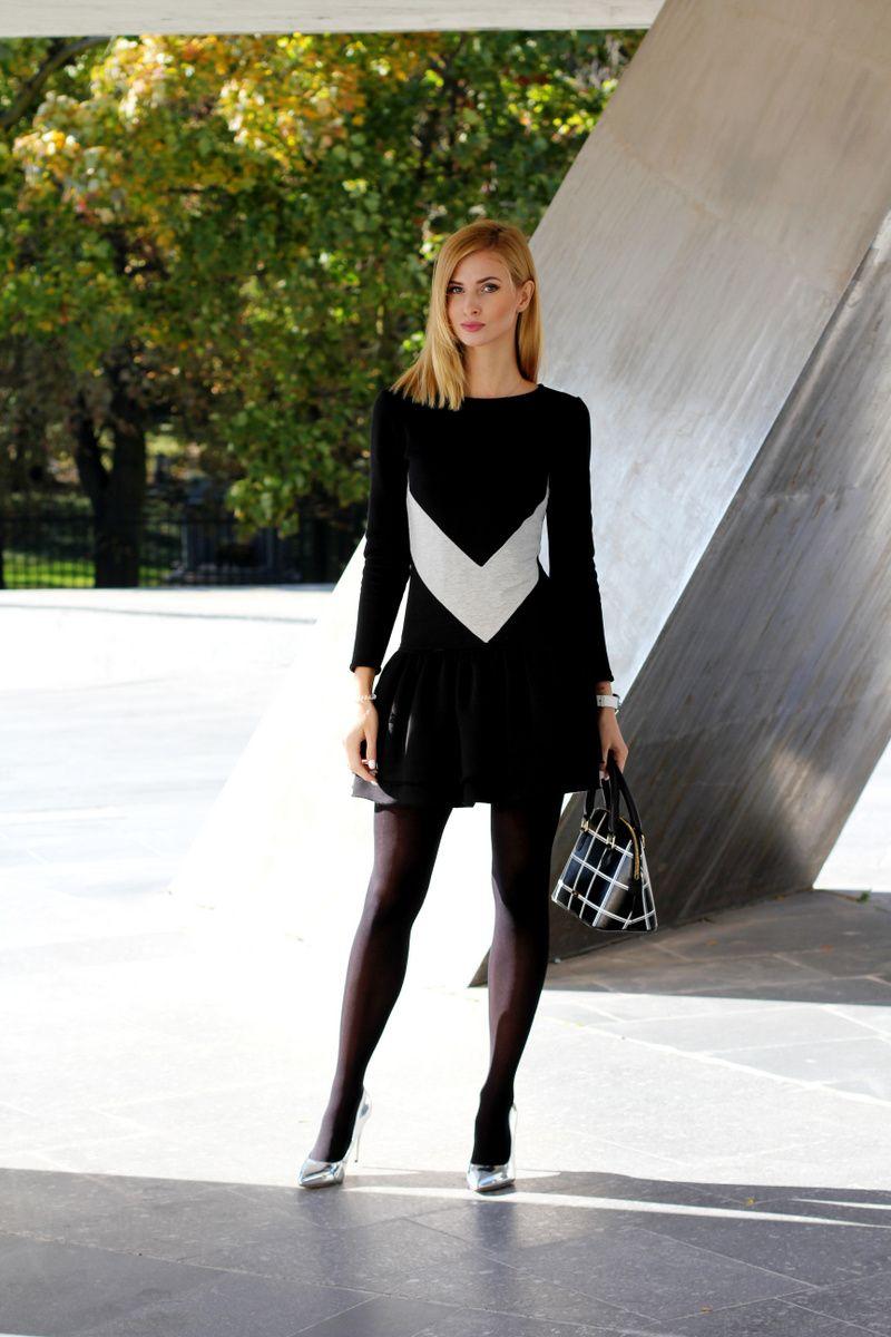 Strumpfmode Fashion Dress With Stockings Fashion Tights [ 1200 x 800 Pixel ]