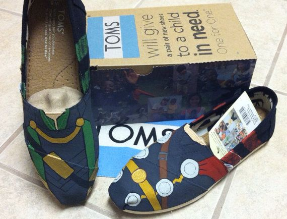 Thor and Loki Slip-on Shoes