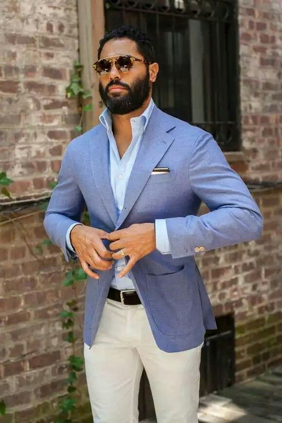 Summer Jacket Blue Blazer Outfit Well Dressed Men Light Blue Blazers