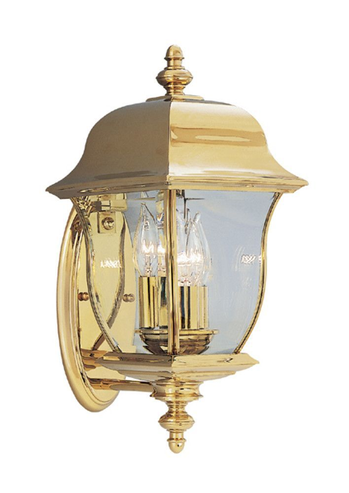 "Designers Fountain Gladiator 8"" Wall Lantern - Solid Brass"