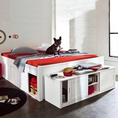 Lit 3 Suisses Lit Plate Forme 2 Personnes En 140 Bed Storage Drawers Bed Storage Storage Drawers