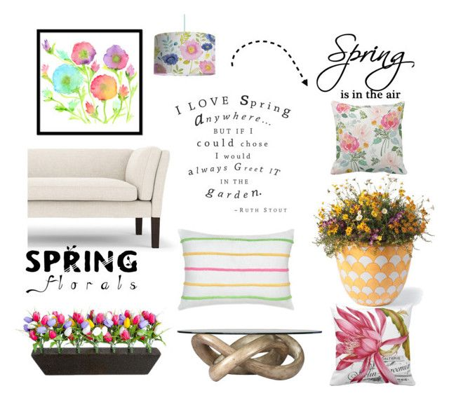 """""""Hello Spring"""" by stephaniefb ❤ liked on Polyvore featuring interior, interiors, interior design, home, home decor, interior decorating, Marge Carson, Southern Tide, Grandin Road and Bluebellgray"""
