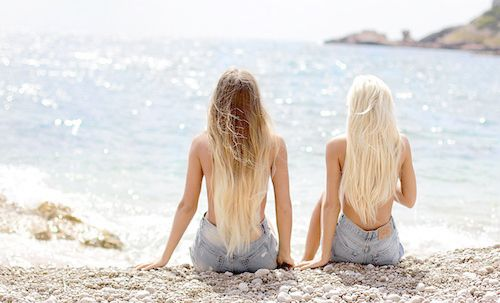 Blonde hair ♥ | via Tumblr | F A S H I O N | Pinterest | Beach ...
