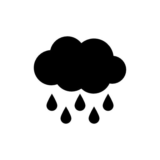 Rain Black Cloud With Raindrops Falling Down Free Vector Icons Designed By Freepik Black Clouds Black Cloud Tattoo Cloud Tattoo