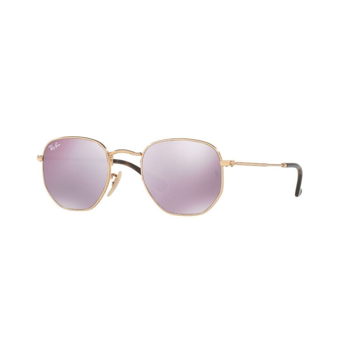 52f0eba24a Ray-Ban Hexagonal RB3548N Men s Frame Wisteria Flash 48mm Lens Sunglasses