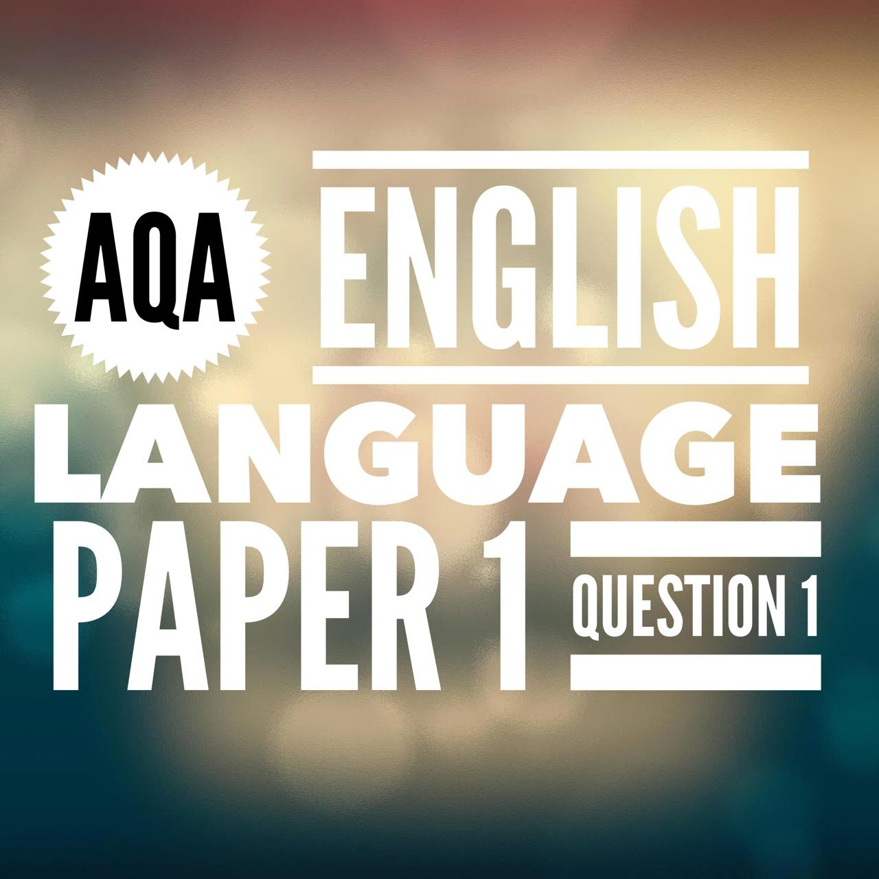 Aqa Gcse English Language Paper 1 Question 1 2017 Exam Education
