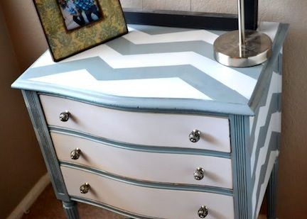 chevron painted furniture. 10 ways to revamp a dresser the new home ec chevron dresserpaint painted furniture