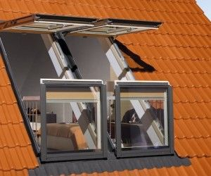 Convertible Windows That Transform Into Rooftop Balconies Balcony Window Roof Window Attic Rooms
