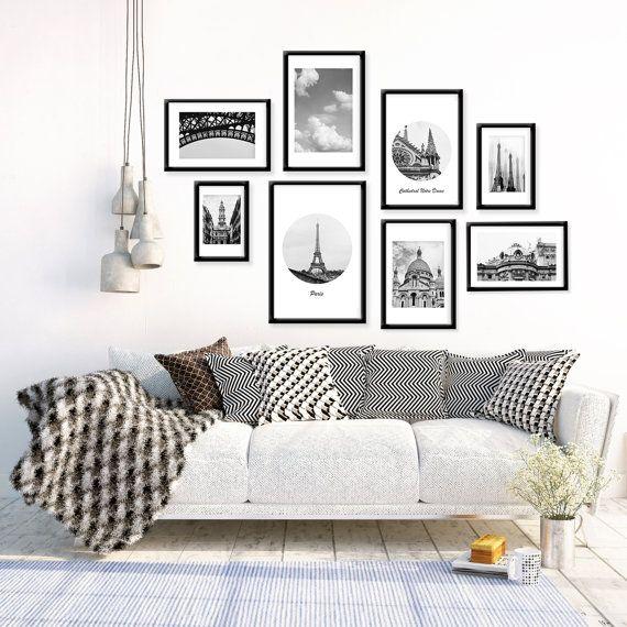 SALE Paris Gallery Wall Prints, Paris Photography, Stylish Wall Decor, Paris  Architecture,