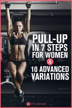 Pull-Up In 7 Steps For Women And 10 Advanced Variations: Women have about 40% less muscle mass in th...