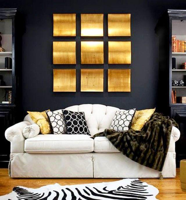 Deco Salon Or Et Noir Deco Salon Idee Deco Interieur Deco