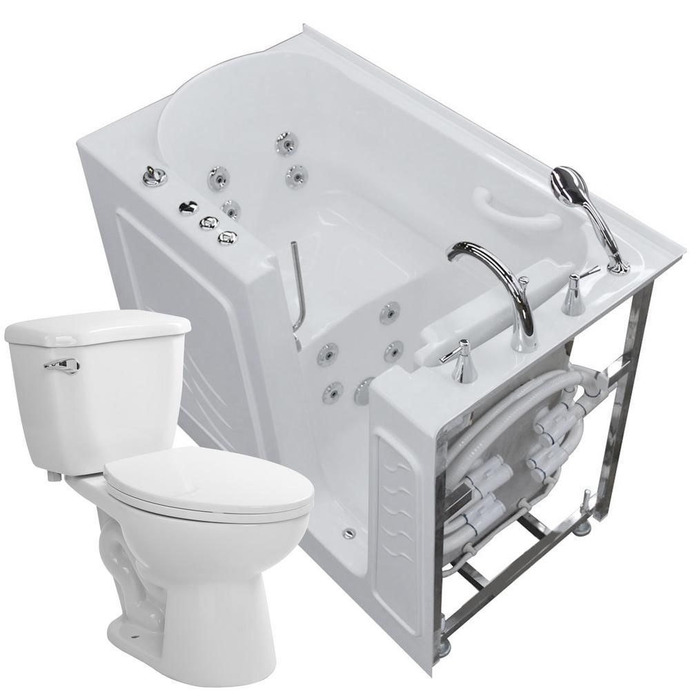 Universal Tubs Nova Heated 52 75 In Walk In Whirlpool Bathtub In