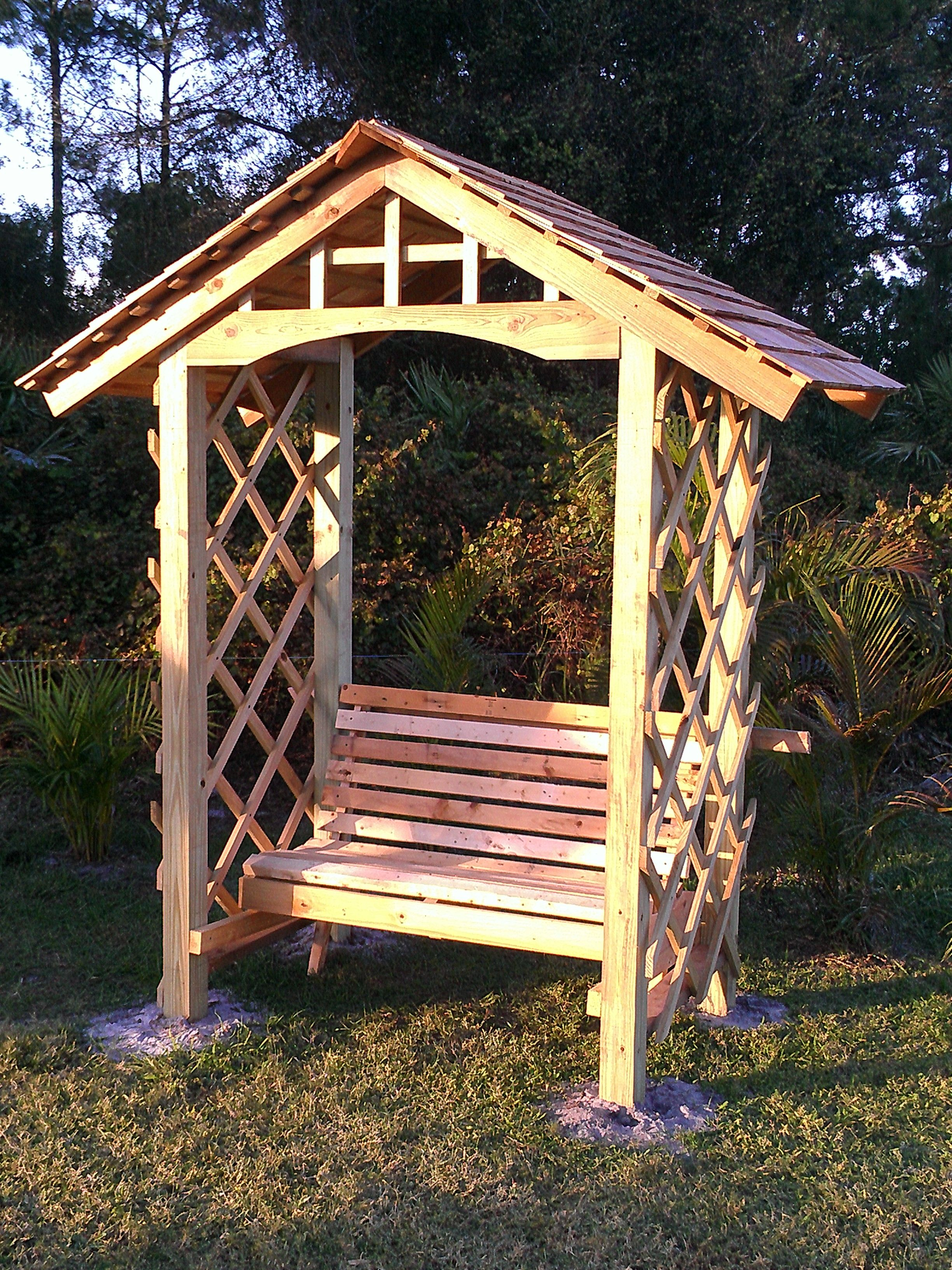 Arbor With Bench Backyard Pinterest