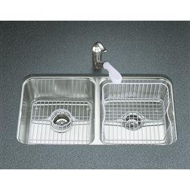 Kohler Undertone 18-In X 31.5-In Stainless Steel Double-Basin Undermount Residential Kitchen Sink 3171-Na