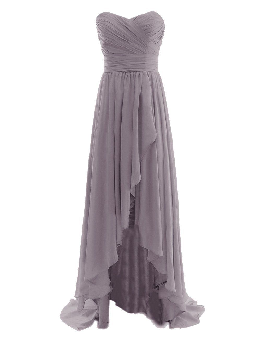 Wedding dresses oahu  Diyouth Long High Low Bridesmaid Dresses Sweetheart Formal Evening