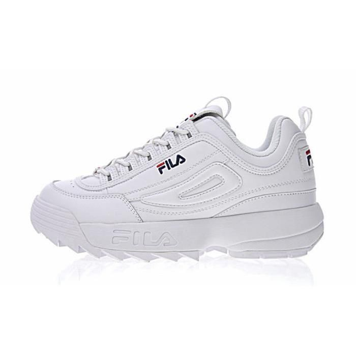 206eb950f607cc Baskets FILA Disruptor II 2 Low Chaussures Sneakers Décontractées Femme Blanc  FILA Basket Femme Disruptor II