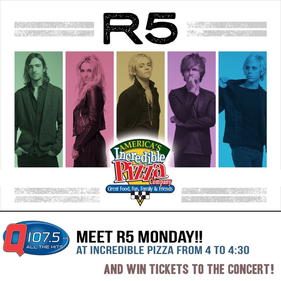 Meet r5 monday at incredible pizza and win tickets to their meet r5 monday at incredible pizza and win tickets to their concert http kristyandbryce Images