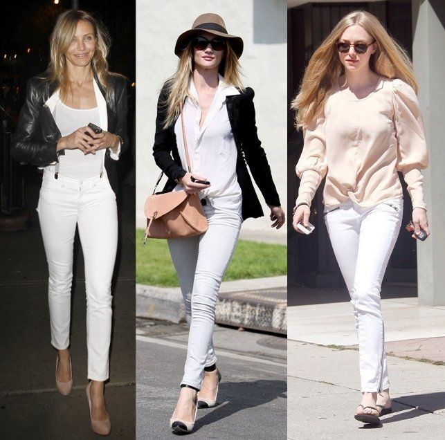 1000  images about Style: White jeans on Pinterest | White ...
