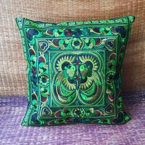Flora Hmong Embroidered Pillow Cover Pillow case F
