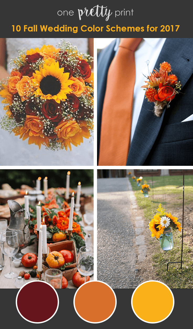 10 Amazing Wedding Color Palettes for Fall Fall wedding