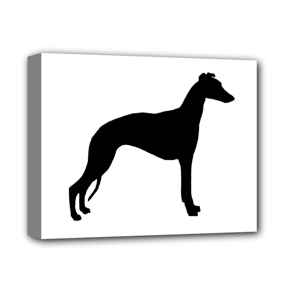 """Whippet+Silhouette+Deluxe+Canvas+14""""+x+11""""+Deluxe+Canvas+14""""+x+11""""+(Stretched)"""