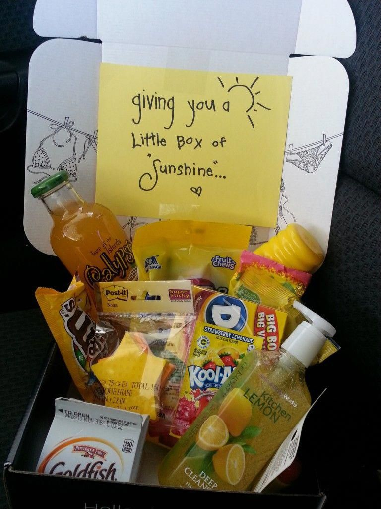 A little box of sunshine happy gift ideas easy gift
