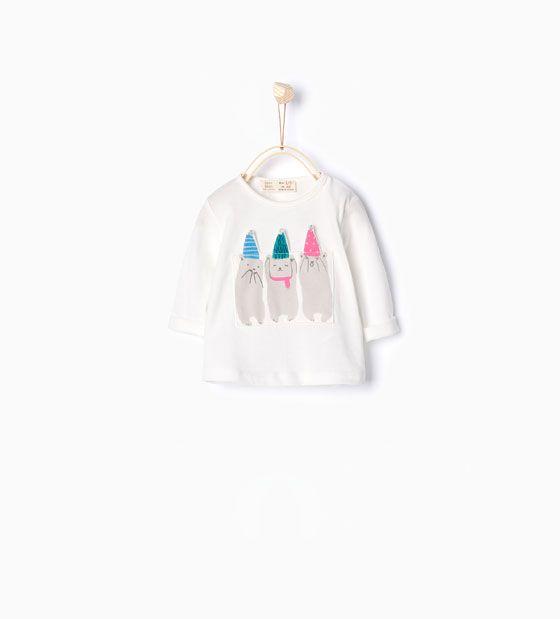 Afbeelding 1 van Shirt met beren van Zara