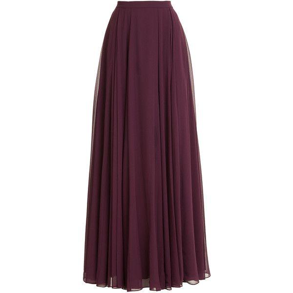 Halston Heritage Maxi Skirt (€370) ❤ liked on Polyvore featuring skirts, bottoms, maxi skirts, saias, purple, ankle length skirts, halston heritage, maxi skirt, purple skirt и zipper skirt