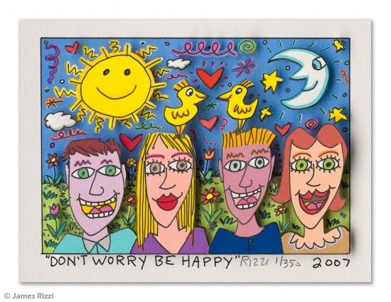 James Rizzi Tumblr Abstract Face Art Pop Art Card Art