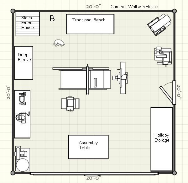 two car garage woodshop you can see two areas that aren 39 t mine the area marked holiday. Black Bedroom Furniture Sets. Home Design Ideas