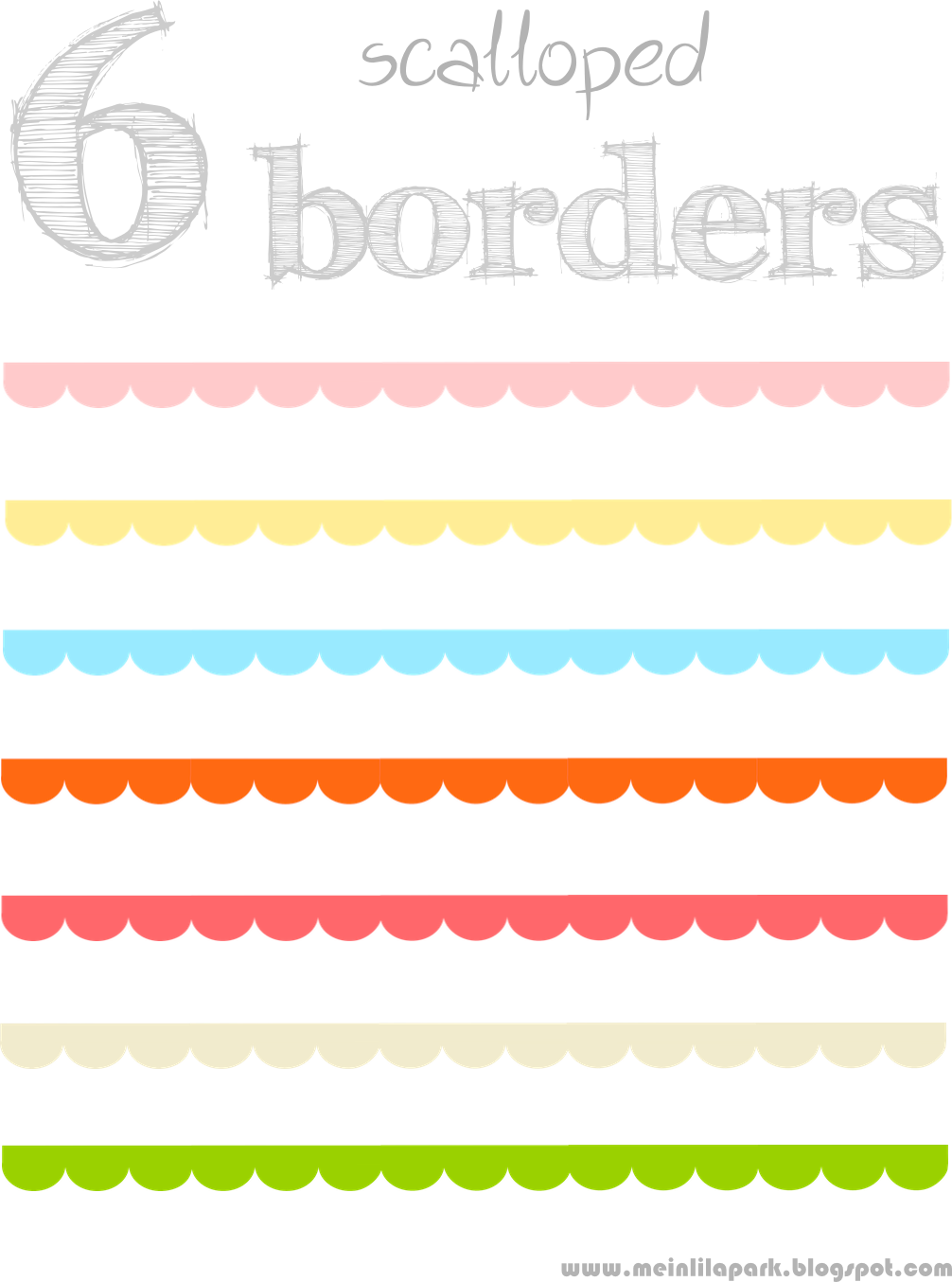 free scalloped scrapbooking borders – border /blog divider clipart ...
