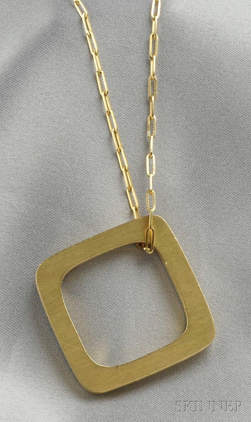 Fine Jewelry - Sale 2586B - Lot 234 18kt Gold Pendant ...
