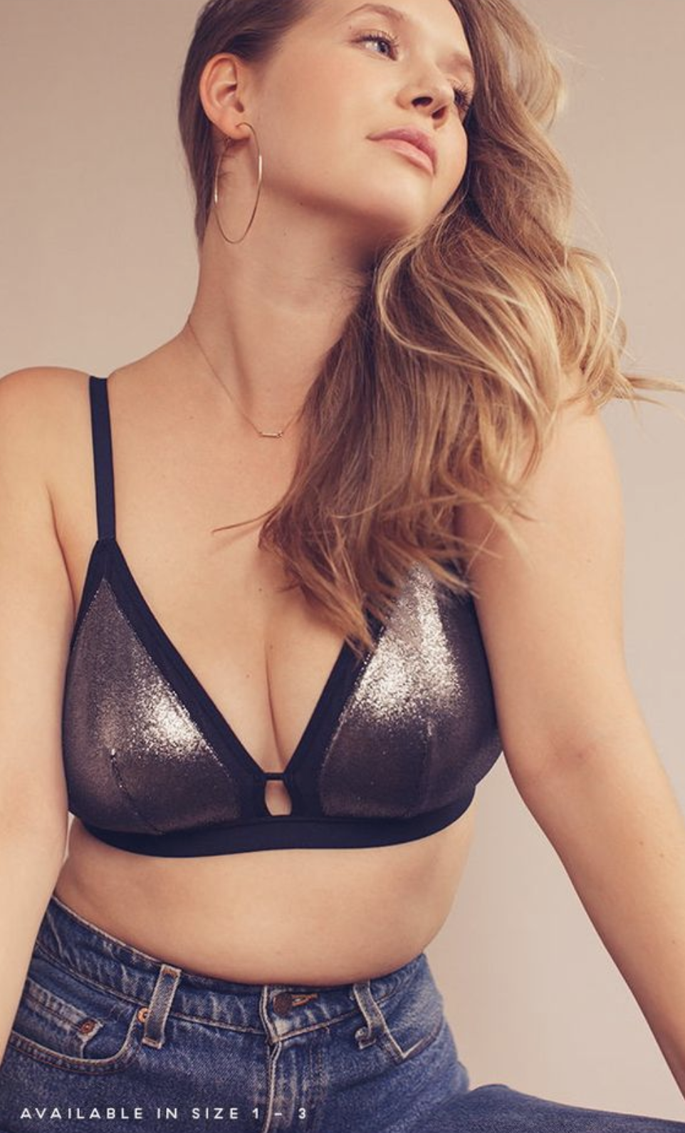 e8005a349e364 The Metallic Busty Bralette  Midnight Navy