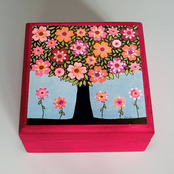 Jewelry Box Wooden Handmade Jewellery Box Flowering Tree Jewelry