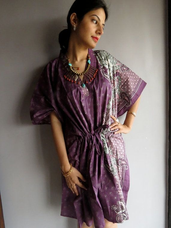Mauve Kaftan Robe  Perfect as getting ready robes by silkandmore, $30.00