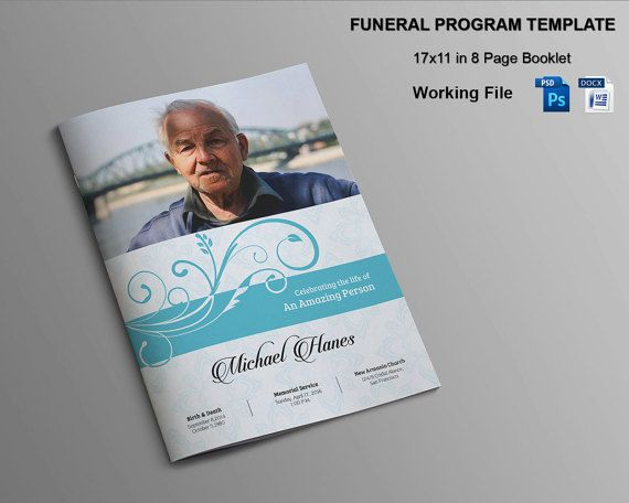 Pages Funeral Program Template X Funeral By Templatestock