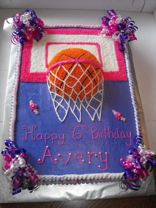 Girly Basketball Cake Use Idea For A Boy Too Obviously Just Not Pink And