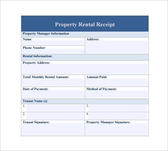 14 Free Rent Receipt Templates Ms Word Excel Pdf Formats Receipt Template Templates Rent