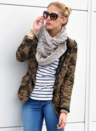 Fashion Camouflage Outerwear S006066,  Outerwear, Fashion Camouflage Outerwear, Chic