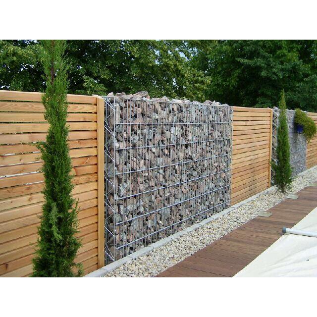 Gabion wall (Google image) Fence Pinterest Jardín, Jardines y