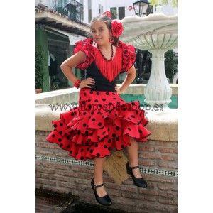 5dddc7652 Traje de flamenco para niña   Spain   Trajes de flamenco, Disfraz ...